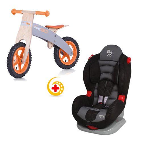Bicicleta din Lemn Biker + Scaun auto Swing Limited