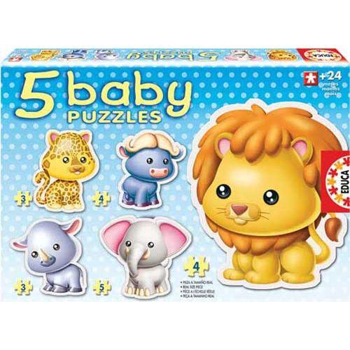 Puzzle Bebe cu Animale Savana