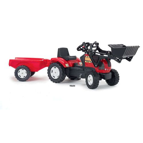 Tractor Loader cu Cupa si Remorca