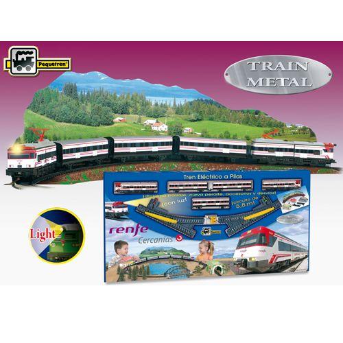 Poza Trenulet Electric Cercanias Renfe cu Peisaj