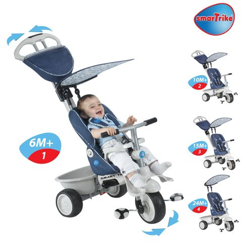 Smart Trike Recliner Stroller 4 in 1 Denim
