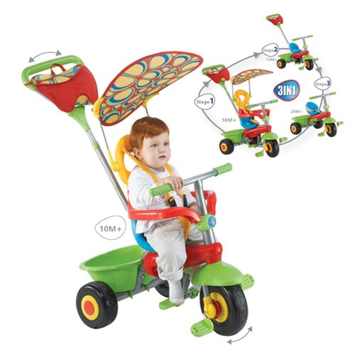 Tricicleta 3 in 1 Smart Trike Fresh Green