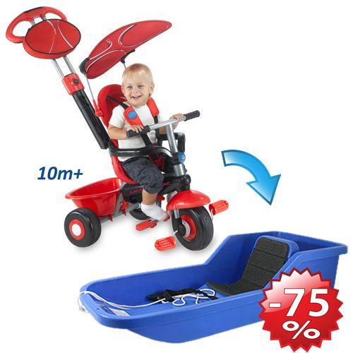 Tricicleta DX Sport + Hamax Baby Bob