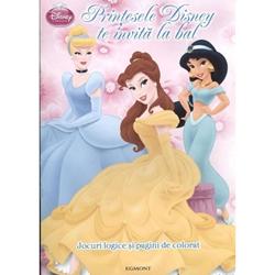 Carte De Colorat Printesele Disney Te Invita La Bal