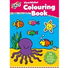 First Sticker Colouring Book - Prima Carte de Colorat + Abtibilduri, Galt