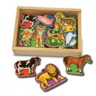 Animale din Lemn cu Magneti, Melissa and Doug