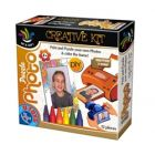 Puzzle Photo cu Rama Color Me si 8 Creioane, D-Toys