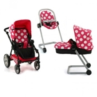 Set Carucior Papusi Icoo Grow With Me Dotty Pink, Hauck