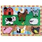 Puzzle de Lemn in Relief - Animale de Ferma, Melissa & Doug