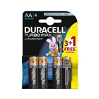 Set 4 Baterii Tip AA Turbo Max Power Check, Duracell