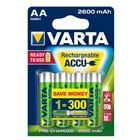 Set 4 Acumulatori AA 2600 mAh Ready to Use, VARTA