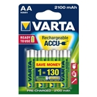Set 4 Acumulatori AA 2100 mAh Ready to Use, VARTA