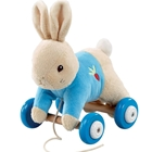 Peter Rabbit - Jucarie din Plus cu Roti, Rainbow Design