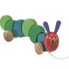 The Very Hungry Caterpillar - Jucarie din Lemn cu Roti 26cm, Rainbow Design