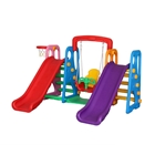 Centru de Joaca 4 in 1 Happy Slide Multicolor, Million Baby