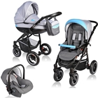 Carucior Crooner 3 in 1 Blue Gray, Vessanti