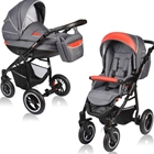 Carucior Crooner 2 in 1 Red Gray, Vessanti