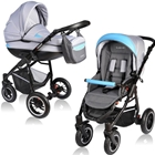 Carucior Crooner 2 in 1 Blue Gray, Vessanti