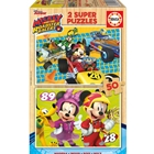Puzzle Mickey and the Roadster Racers 2 x 50 Piese, Educa