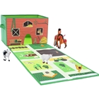 Cutie de Depozitare cu Covoras de Joaca Play and Store Farm, House of Kids