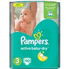 Scutece Active Baby-Dry, Marimea 3, 90 buc, 5 - 9 kg, Pampers