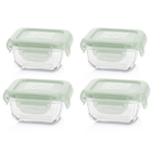 Set de 4 Recipiente Etanse din Sticla 160 ml Chip, Miniland Baby