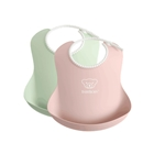 Set 2 Bavete Powder Green/Powder Pink, BabyBjorn