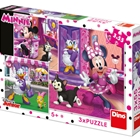 Puzzle O Zi cu Minnie Mouse 3 x 55 Piese, Dino Toys