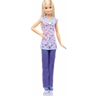 Papusa Barbie by Mattel Careers Asistenta in Halat cu Fluturasi, Barbie