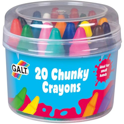20 Chunky Crayons - Set 20 Creioane Cerate, Galt