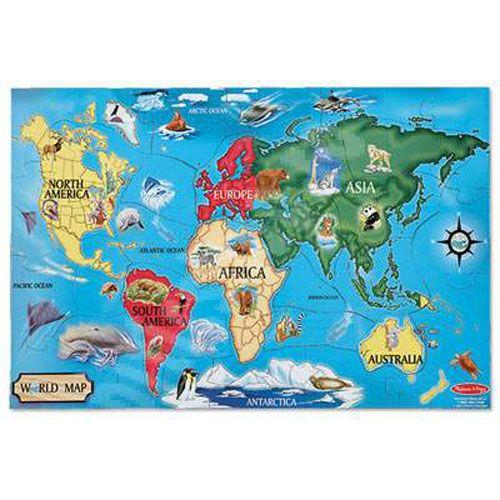 Puzzle de Podea Harta Lumii, Melissa & Doug