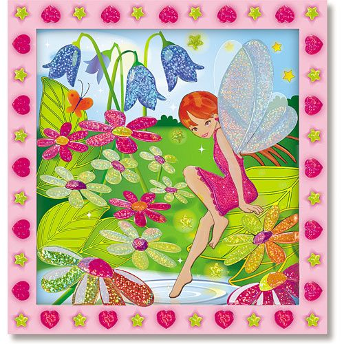 Set de Creatie Mozaic pe Numere Gradina Zanelor, Melissa & Doug