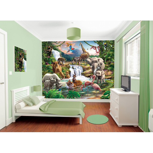 Tapet pentru Copii Jungle Adventure, Walltastic