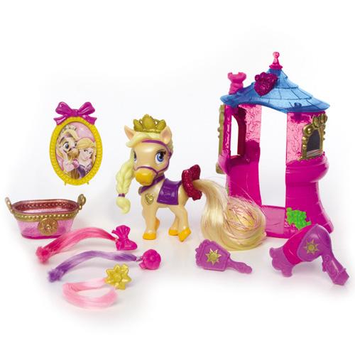 Figurina Poneiul Blondie cu Accesorii, Disney Princess Palace Pets
