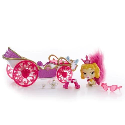 Figurina Catelusul Teacup cu Trasura, Disney Princess Palace Pets