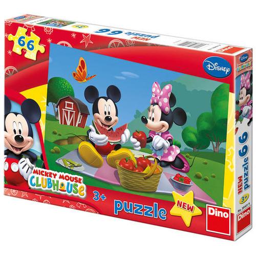 Puzzle - La Picnic cu Mickey si Minnie 66 Piese, Dino Toys