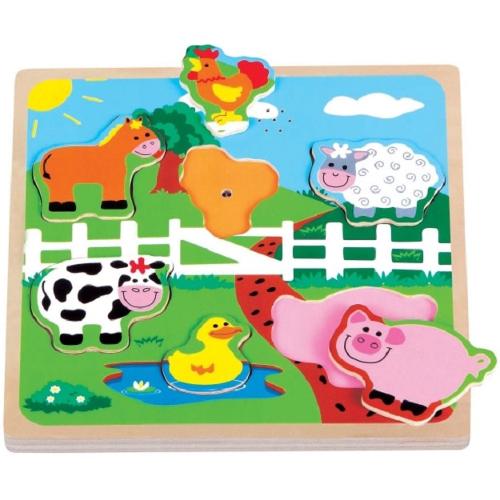 Puzzle Ferma cu Sunete, New Classic Toys