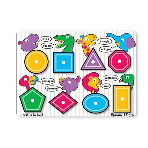 Puzzle Lemn Forme Geometrice, Melissa & Doug