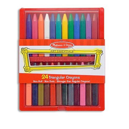 Set 24 Creioane Colorate Triunghiulare, Melissa & Doug