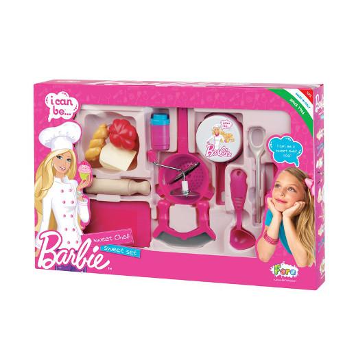 Set Complet Ustensile Bucatarie Barbie, Faro