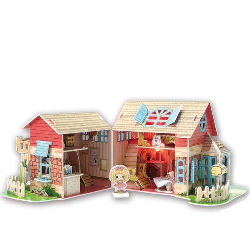 Puzzle 3D Casuta de Poveste pentru Papusi, CubicFun