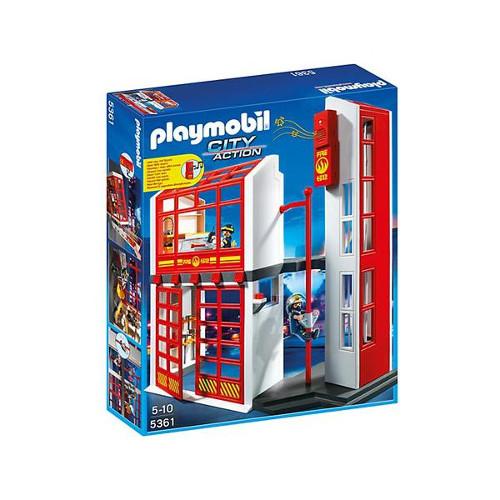 Statie de Pompieri cu Alarma, Playmobil