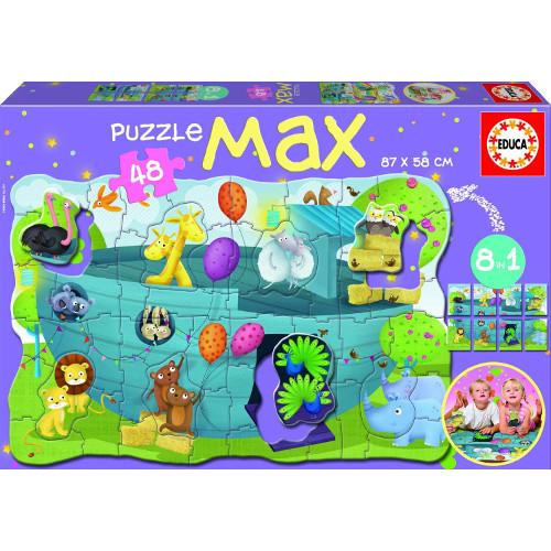 Puzzle Max 8 in 1 Arca lui Noe, Educa