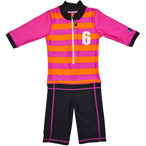 Costum de Baie Sport Pink Marime 86-92 Protectie UV, Swimpy