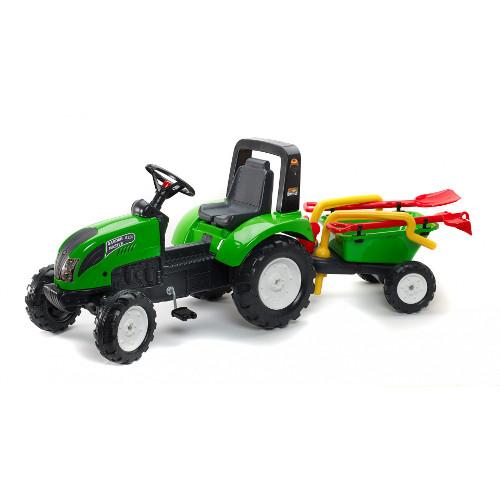 Tractor Garden Master Verde cu Remorca, Falk