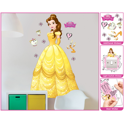 Sticker Mare Disney Princess Belle, Walltastic