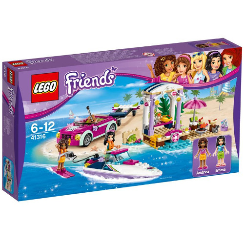 LEGO Friends Barca Transportoare cu Motor a Andreei 41316, LEGO
