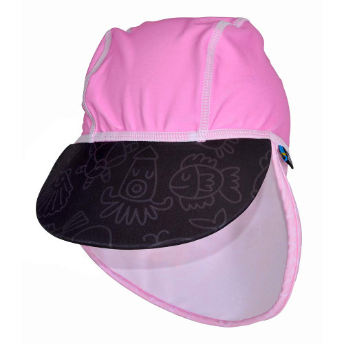 Sapca Pink Ocean 2-4 ani Protectie UV, Swimpy