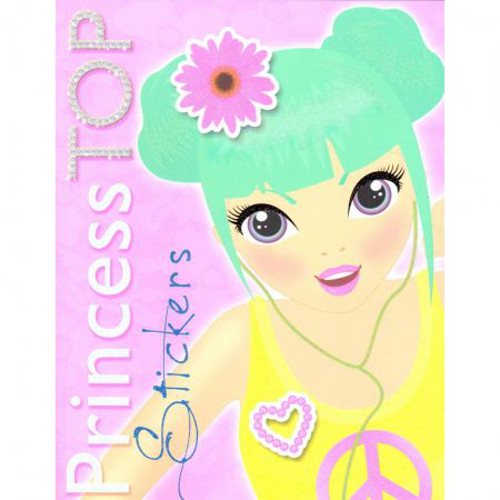 Princess Top Stickers Galben, Editura Girasol