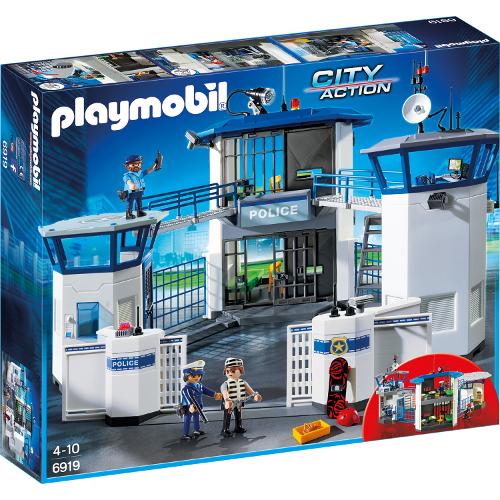 Set Playmobil City Action Police, Sediu de Politie cu Inchisoare, Playmobil